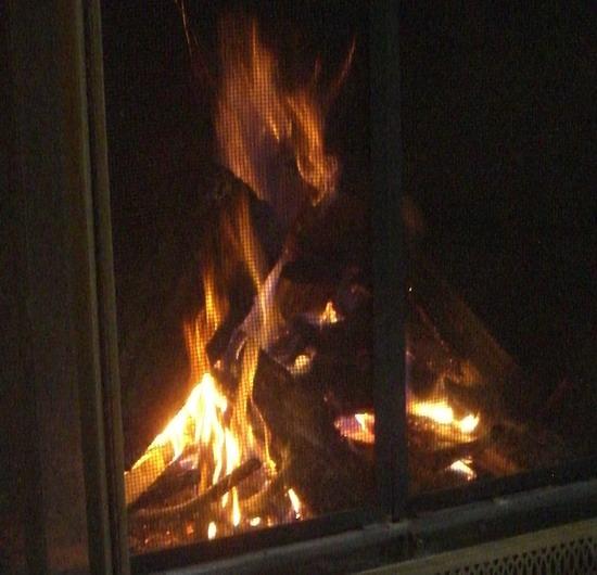 ein schönes warmes Feuer!