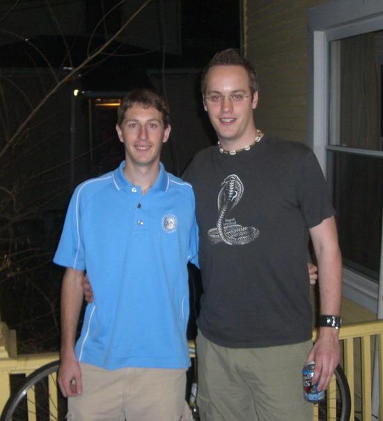 Terence und ich auf der Party am Samstag abend