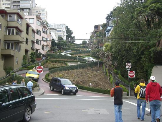 Lombard Street in San Fran